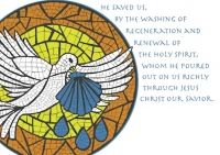 Baptism - Dove and Shell Card X-302