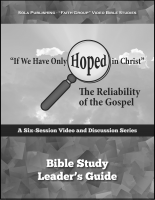 The Reliability of the Gospel - Leader G-1015